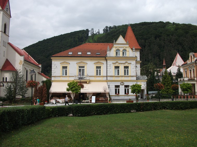 photo of the town Trencianske Teplice in Slovakia